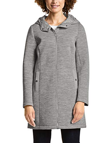 Street One Damen 201139 Mantel, Grau (Soft Grey Melange 11358), 42
