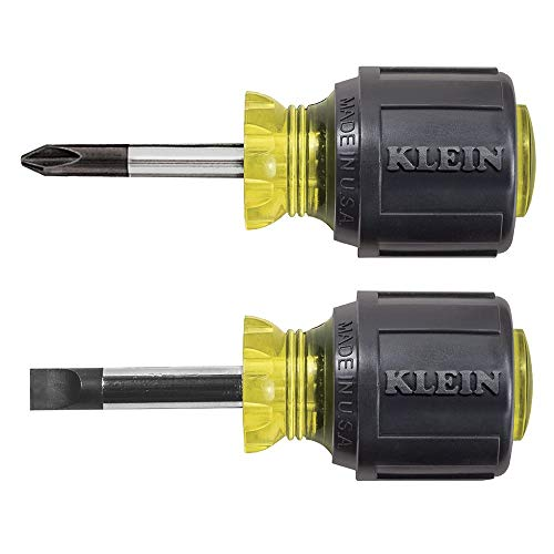 Klein Tools 85071 Stubby Slotted and Phillips Screwdriver Set with