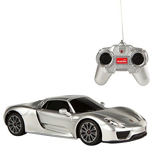 Rastar - Coche teledirigido 1:24 - Porsche 918 Spyder gris (