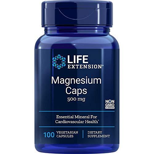 Life Extension, Magnesium Kapseln, 500 mg, 100 vegetarische Kapseln