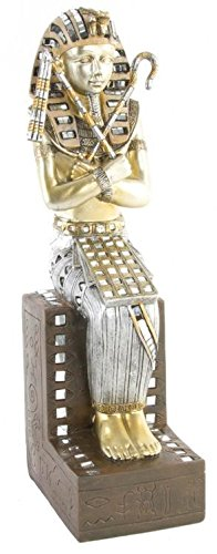 AVENUELAFAYETTE Statuette Figurine Pharaon Toutankhamon Assis Couleur Or - Egypte - 36 cm