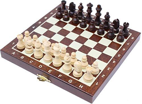 チェスジャパン 木製チェスセット コンパクト 20cm 磁石式
