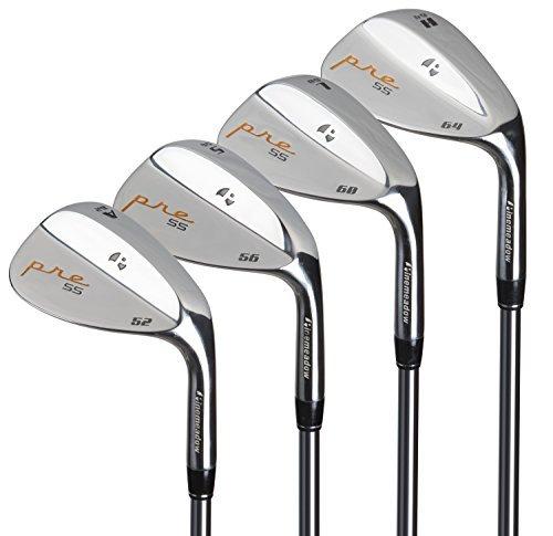 Pinemeadow Golf Men's Pre 4 Wedge Set, Right Hand, Steel, Regular, 52, 56, 60, 64