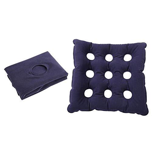 Cuscino gonfiabile per sedile, anti decubito, con 9 fori, traspirante e in PVC, cuscino auto gonfiante per una seduta di maggiore durata, adatto a sedie da ufficio