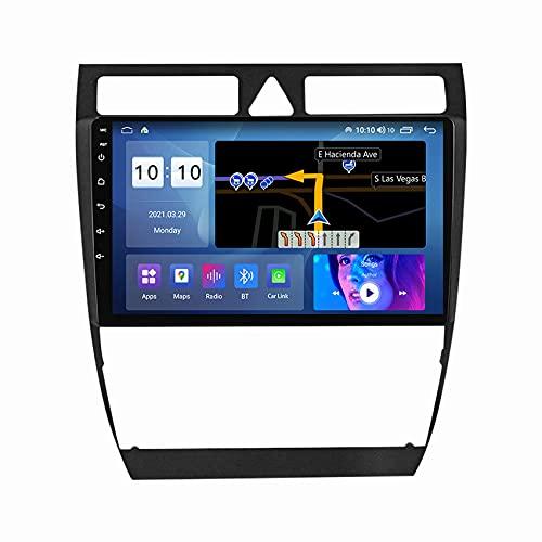 W-bgzsj AUTORADIO Car Radio para Audi A6 S6 1999-2004 Video Multimedia Navegación GPS Android 10 USB WiFi FM Espejo Enlace Bluetooth Manos Libres SWC + Cámara de Respaldo, M100S (Color : M200s)