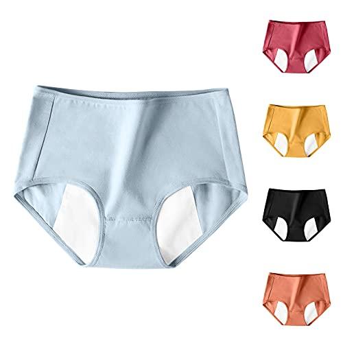 GANBADIE Culotte Menstruelle Femme Coton Slip Regles Anti Fuite sous-vêtement Lavable