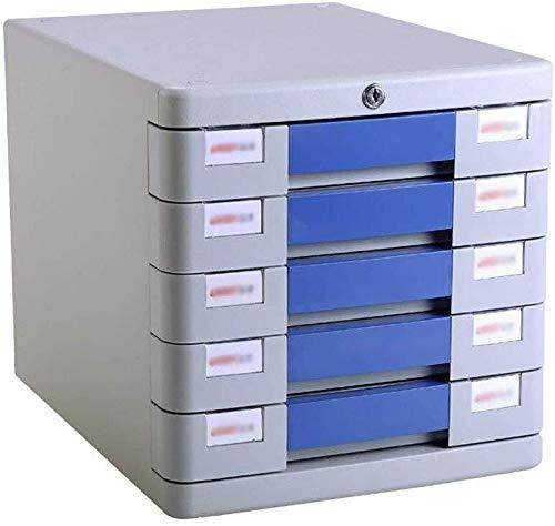 Aktenschrank Komfortabler Auszieh-Design großer Stauraum Büro Umwelt Schiebeschiene Schubladen verschiedene Schubladen PP-Kunststoff (28,2 x 36,5 x 28,5 cm) Aufbewahrungsbox blau