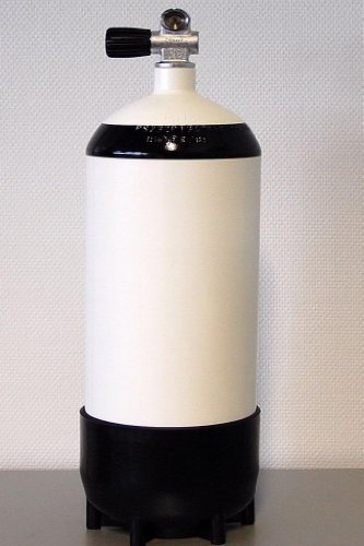 Polaris Pressluftflasche 12 L kurz + Monoventil + Fuß / Tauchflasche [Misc.]