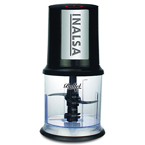 Inalsa Bullet 400-Watt Electric Chopper with Twin Blade Technology (Black)