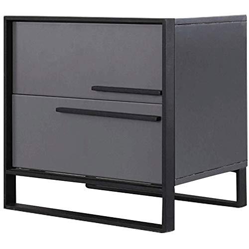 WCJ licht creatief nachtkastje mode nachtkastje eenvoudig en modern (kleur: zwart, productafmetingen: 50 x 50 x 40 cm).