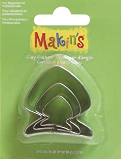 Makin's USA Clay Cutters, Fish, 3 Per Package
