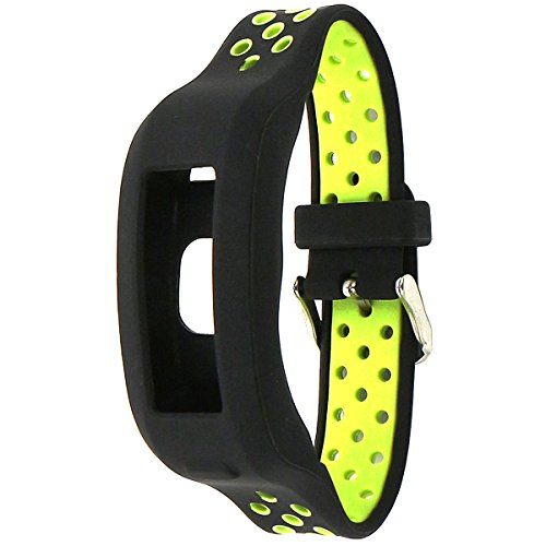 el-move cinghia per Garmin Vivosmart HR Samrt orologio accessori morbido silicone sostituzione braccialetto sport cinghie Wristband per Garmin Vivosmart HR fitness tracker Band (BlackYellow)