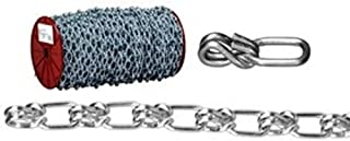 ASC MC1378041 Low Carbon Steel Inco Double Loop Chain 8//0 Trade 705 lbs Working Load Limit Galvanized 7//32 Diameter x 100 Length