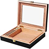 AKwwmy Boîte à Cigare Cedar Bois BOÎTRE DISPLAIRE Windows Cigar Humidor Mini Piano Portable avec boîte d'affichage Mengheyuan