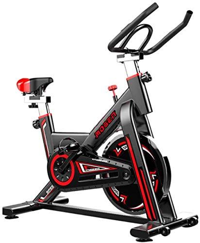 Bicicleta estática Bicicleta estática de Interior Bicicleta estática Profesional Ajustable con Pantalla LCD Equipo de Entrenamiento de Entrenamiento Cojín cómodo Cojín de Asiento Adecuado p