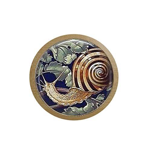 bab Garden Schnecken-Gärtner-Geschenk-Garten-Schnecken-Halskette, Taschenuhr, Halskette, Nagel-Schmuck, Escargot-Schnecke, Muschel-Eis-Box, Aufkleber Kühlschrank-Aufkleber