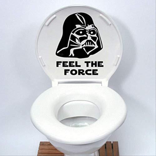 Autocollant De Siège De Toilette Star Wars - Dessin Animé Drôle Décalque En Vinyle Home Decor Noir, 30 * 22.7Cm