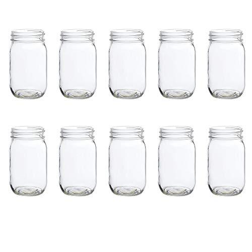 16 oz. Mason Jars Drinking Glass - 10 Pack - Clear