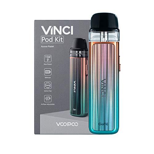 VOOPOO Vinci Pod Kit sigaretta elettronica 800mAh 2ml Kit completo - Senza nicotina San tabacco (Aurora Pastel)