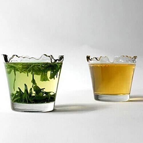 BAYUE 2pcs Gafas con Estilo Vidrio de Vino Rojo Copa de Tiro de la Vodka Whisky cristalería Alto Grado Irregular Gap Recipientes (Capacity : 101 200ml, Color : A Pair)