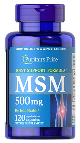 Puritan's Pride MSM 500 mg-120 Capsules