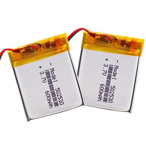 Batería de respaldo de alto rendimiento Batería de polímero de litio de 3.7V Batería recargable de iones de litio 502530 052530 600mah para MP3 MP4 MP5 Grabadora GPS Pluma Juguetes eléctricos-4 piezas