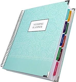 Wedding Planner 9x11 Hardcover Organizer, Bookmark, Planning Stickers, Business Card Holder, and Pocket Folders