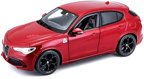 Bburago 15621086R Modello di Alfa Romeo, Scala 1:24, Rosso