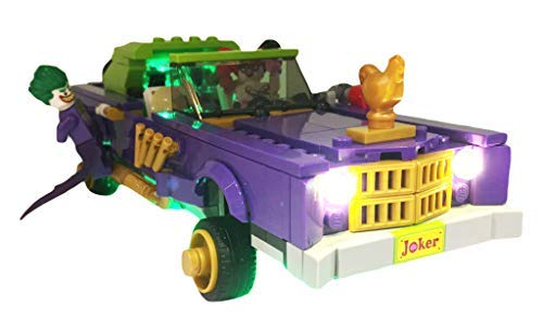 Brick Loot LED Lighting Kit for Lego The Joker Notorious Lowrider - 70906 (Lego Set NOT Included)