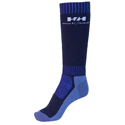 Helly Hansen Workwear 2 Paar Arbeitssocken Lahti Extreme, robuste Socken für Handwerker, Industrie Gr. 40 - 43, blau, 75735