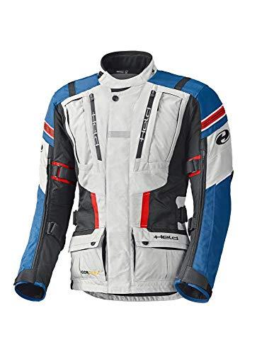 CRUIZER Held - Giacca Touring HAKUNA II grigio-blu per moto da uomo in cordura DU PONT 500 D, fodera COOLMAX altamente traspirante, impermeabile, antivento (L)