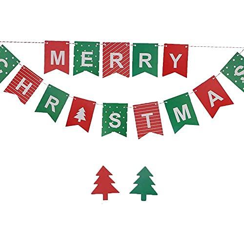 xiaoyu shop Guirnalda con diseño de letra de Navidad para colgar en la puerta y pared, decoración para fiestas