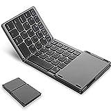 Teclado Bluetooth plegable con Touchpad, plegable y...