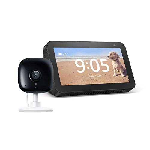 Echo Show 5 Charcoal with Kasa Indoor Smart Security Camera, 1080P HD with Night Vision
