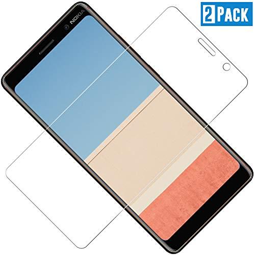 TOIYIOC Pellicola Protettiva Nokia 7 Plus, Pellicola Vetro Temperato Nokia 7 Plus [Durezza 9H] [Alta Trasparente] [Nessuna Bolla] [Anti-Impronte] [ Antigraffi] - [2 Packs]