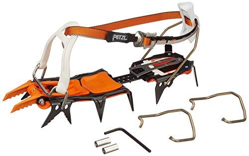 Petzl T24A LLU Lynx Loverlock Universel - Crampones modulares para escalada en hielo y mixto, Negro/Naranja