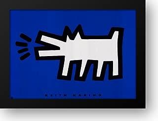 Dog Barking 38x28 Framed Art Print by Haring, Keith