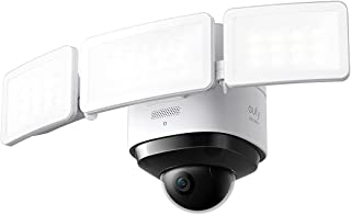 eufy Security Floodlight Cam 2 Pro, 360° draai- en kantelbeeld, 2K Full HD, slimme verlichting, weerbestendig, AI op het a...