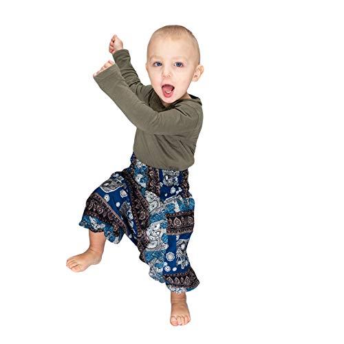 Mienloco Baby Kinder Jungen und Mädchen Aladinhose Haremshose (3-4 Jahre, 2)