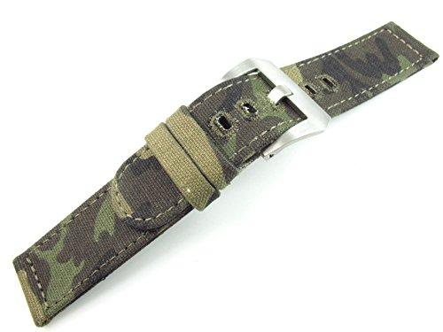 24mm Correa de Tela Camuflaje Banda Deportes ejército Pulsera Militares Reloj Partes