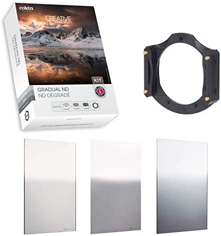 Cokin Square Filter Gradual ND Creative Kit Plus - Includes M (P) Series Filter Holder, Gnd 1-Stop (121L), Gnd 2-Stop (121M), Gnd 3-Stop Soft (121S)