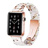Light Apple Watch Band - Fashion Resin iWatch Band Bracelet Compatible with Copper Stainle...