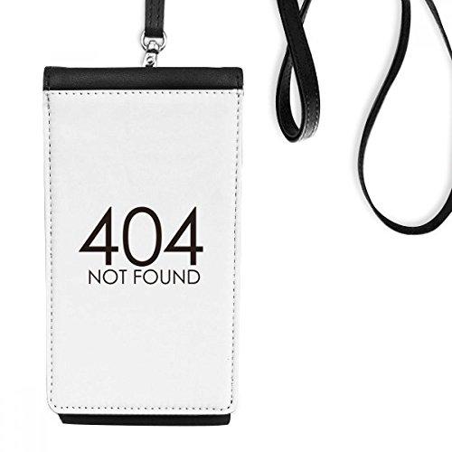 DIYthinker Programmer 404 Fout niet gevonden kunstleer Smartphone opknoping portemonnee zwart telefoon portemonnee cadeau
