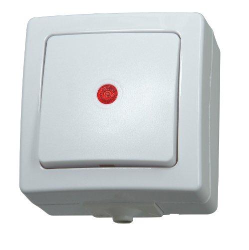 Kopp 566302004 Taster beleuchtbar Aufputz Feuchtraum Nautic arktis-weiß