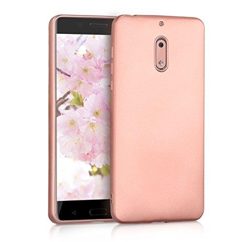 kwmobile Nokia 6 (2017) Hülle - Handyhülle für Nokia 6 (2017) - Handy Case in Metallic Rosegold
