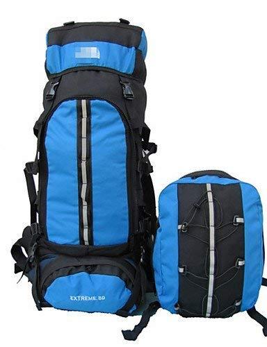 Sac à Dos 80 L Sac à Dos Camping & Randonnée/Escalade Extérieur Etanche/Sac de cruche intégré Bleu Nylon North Face