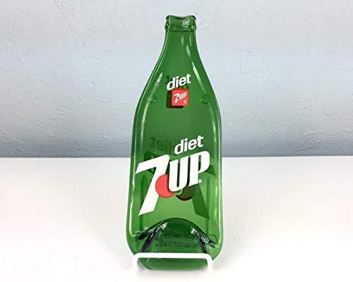Vintage Upcycled Bottle Diet 7 Up Melted Bottle Spoon Rest/Kitchen...