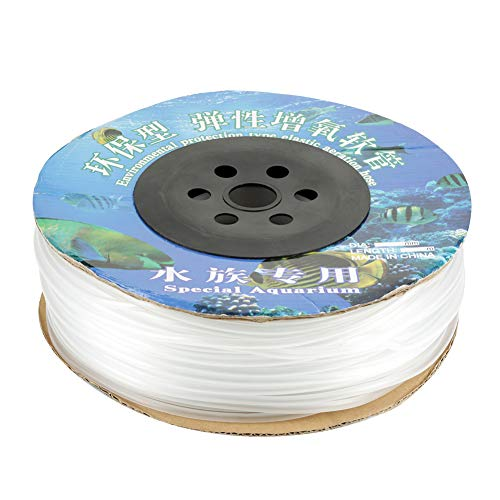 Zerone Silikonschlauch, PVC-Luftleitungs-Schlauch Der Aquarium-100M Aquarium Rückschlagventil Schlauch für Fisch-Behälter-Luftpumpe
