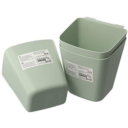 IKEA Sunnersta Hängebehälter für die Küche, Hellgrün, 12 x 11 cm, 3er-Set