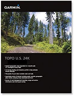 Garmin US TOPO 24K Topographical Maps of United States Mountain Central Region (microSD/SD Card)